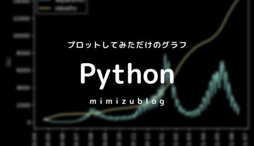 Pythonでコロナ陽性者数と死亡者数の黒背景グラフを簡単にだしてみる